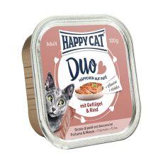 Happy Cat DUO MENU - drůbež a hovězí, 100 g