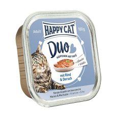 Happy Cat DUO MENU - hovězí a treska, 100 g