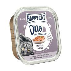 Happy Cat DUO MENU - hovězí a zvěřina, 100 g