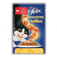 Felix Sensations - hovězí maso s rajčaty v želé, 100 g
