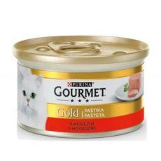 Konzerva Gourmet GOLD - paštika s hovězím masem, 85 g