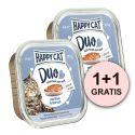 Happy Cat DUO MENU - hovězí a treska, 100 g + 100g GRATIS