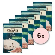Kapsička GOURMET PERLE – pstruh a špenát, 6 x 85 g
