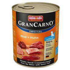 Konzerva GranCarno Original Junior hovězí + kuře - 800 g