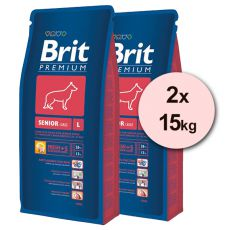 Brit Premium Senior Large 2 x 15 kg