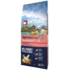 ONTARIO Weight Control Large – turkey & potatoes 12 kg