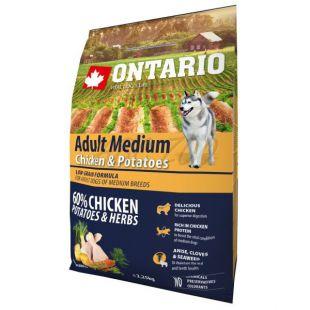 ONTARIO Adult Medium – chicken & potatoes 2,25 kg