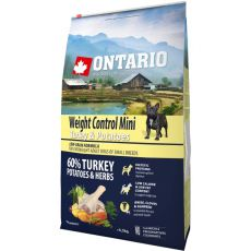 ONTARIO Weight Control Mini – turkey & potatoes 6,5 kg