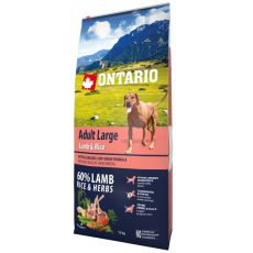 ONTARIO Adult Large – lamb & rice 12 kg