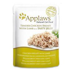 Kapsička APPLAWS Cat Pouch,  kuře a jehně v želé 70 g