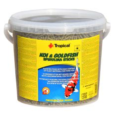 TROPICAL Koi & Goldfish spirulina sticks - 5 l/450 g