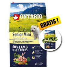 ONTARIO Senior Mini Lamb & Rice 6,5kg + 0,75kg