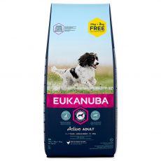 EUKANUBA ADULT MEDIUM Breed 15kg + 3kg ZDARMA