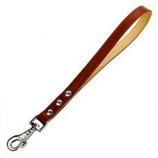 Kožené COLLAR vodítko pro psa, krátké – 40 cm, 20 mm, hnědé