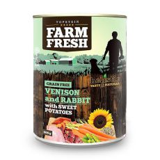 Farm Fresh – Venison and Rabbit with Sweet Potatoes 400 g