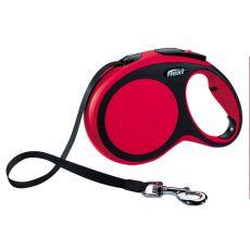 Flexi NEW COMFORT vodítko L do 50 kg, 8m popruh – červené