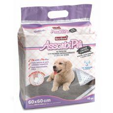 Hygienické podložky pro psy s aktivním uhlím 60 x 60 cm, 10 ks