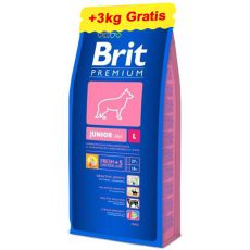 Brit Premium Junior Large 15kg + 3kg GRATIS