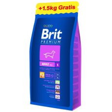 Brit Premium Adult Small 8 kg + 1,5kg GRATIS
