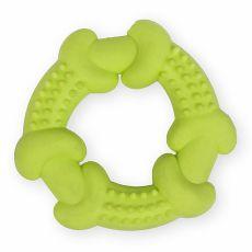 TPR Gumový kruh s výstupky – žlutý 10,5 cm