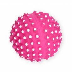 Hračka pro psa – vinylový míč s výstupky, růžový – 7 cm