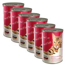 Konzerva BEWI CAT Meatinis DRŮBEŽ - 6 x 400g, 5+1 GRATIS
