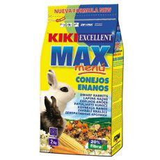 KIKI EXCELLENT MAX MENU – krmivo pro trpasličí králíky, 2 kg