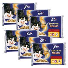 Felix Sensations Sauces - krůtí a jehněčí v omáčce, 6 x 400 g