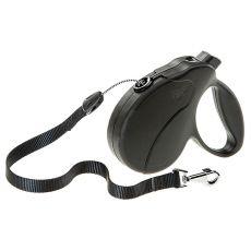 Vodítko Amigo Easy Medium do 25 kg – 5m lanko, černé