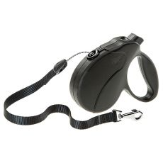 Vodítko Amigo Easy Large do 50 kg – 5m lanko, černé