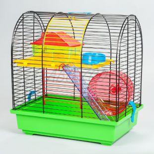 Klec pro křečka - GRIM II s plastovou výbavou