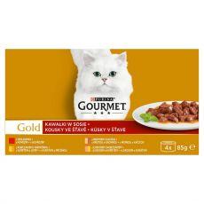 Konzerva Gourmet GOLD – kousky ve šťávě, 4 x 85 g