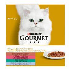 Konzerva GOURMET GOLD – kousky ve šťávě, 8 x 85 g