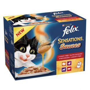 Felix Sensations Sauces – lahodný výběr v omáčce, 12 x 100 g