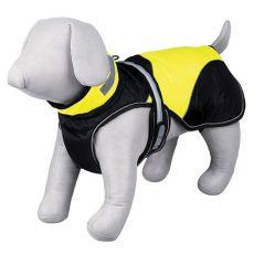 Kabát pro psa Safety Flash černožlutý se světlem, L 55 cm