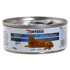 ONTARIO Cat Chicken Pieces + Salmon 95 g