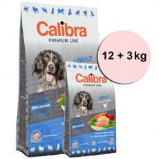 CALIBRA Dog Premium Line ADULT 12 + 3 kg