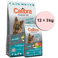 CALIBRA Dog Premium Line ADULT LARGE 12 + 3 kg