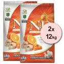 Farmina N&D dog GF PUMPKIN adult medium/maxi, codfish & orange – 2 x 12 kg