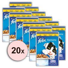 Felix krmivo - kuřecí maso v želé, 20 x 100 g