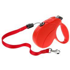 Vodítko Amigo Easy Large do 50 kg – 5m lanko, červené