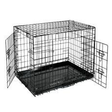 Klec Dog Cage Black Lux – 2x dvířka, S – 61,5 x 42,5 x 50 cm