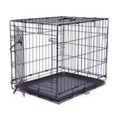 Klec Dog Cage Black Lux, M – 78,5 x 52,5 x 59 cm