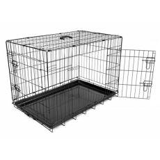 Klec Dog Cage Black Lux – 2x dvířka, M – 78,5 x 52,5 x 59 cm