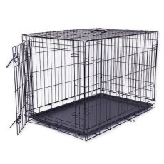 Klec Dog Cage Black Lux, XXL – 125,8 x 74,5 x 80,5 cm