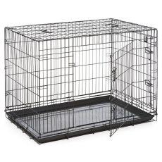 Klec Dog Cage Black Lux – 2x dvířka, XXL – 125,8 x 74,5 x 80,5 cm