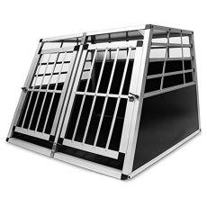 Hliníková přepravka pro psy do auta – 104 x 91 x 69,5 cm