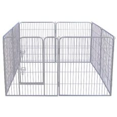 Ohrádka Dog Park Grey Lux 8 hran, S – 80 x 61 cm