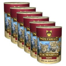 Konzerva WOLFSBLUT Blue Mountain PUPPY, 6 x 395 g