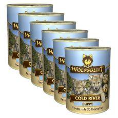 Konzerva WOLFSBLUT Cold River PUPPY, 6 x 395 g